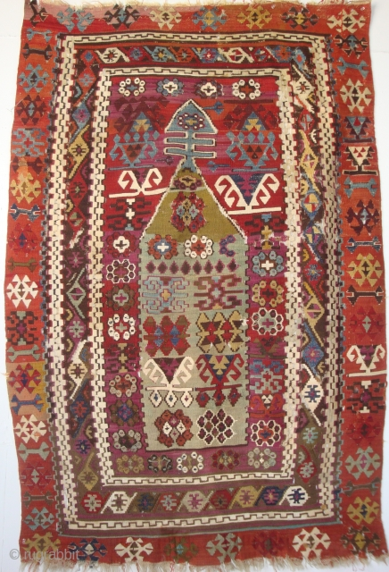 Antique Anatolian Prayer kelim