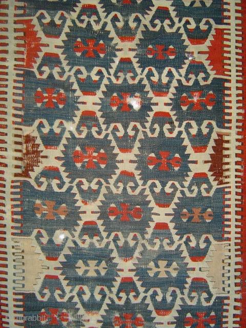 Very old Anatolian Elibelinde kelim fragment, possibly 18th century