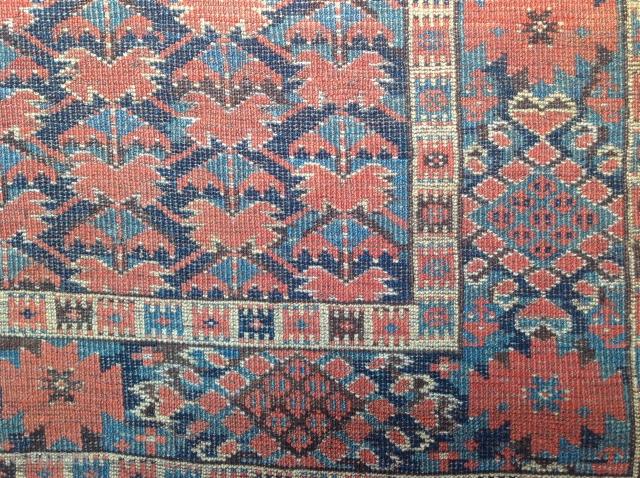 19th century Beshir library carpet, detail