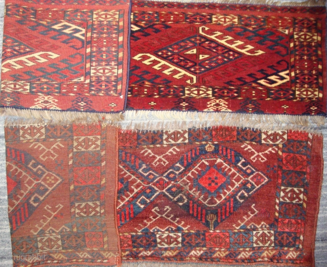 Two antique Turkmen torbas