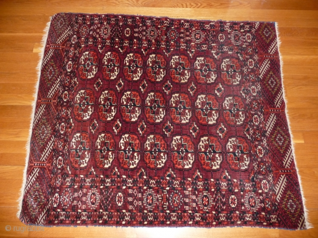 Tekke Prayer Rug 19th Century 4ft x 3ft 6ins Excellent Condition  minor loss to both ends
