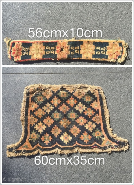 Tibetan rugs, s 1880 years or so, for the horse butt and other places, two pieces of size written in the book of the image, respectively, of just $150 shipping to your  ...