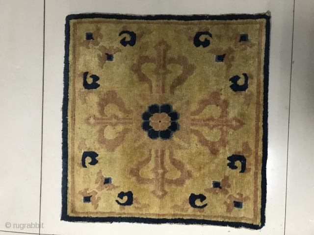 Ningxia temple mat, mid-19th century, size 68x66cm, no repair. Welcome to consultation