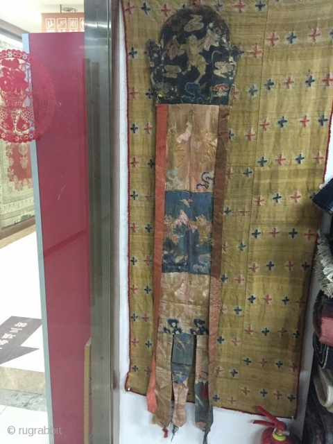 Prayer silk size 160 cmx24cm Tibetan temples, s in the Ming dynasty around the year 1580, price concessions