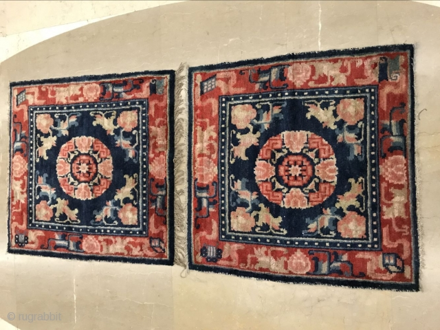 Alashan left banner temple mat blanket, about the early 19th century, single size 70x66cm, welcome to consult!