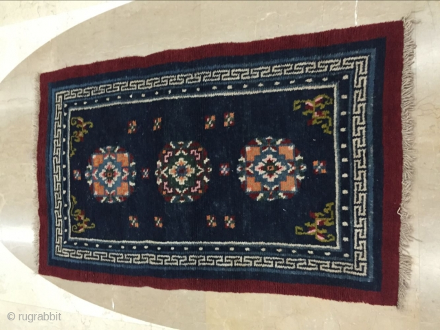 Tibetan carpets, cmx88cm size 140, age 1940 years or so, price concessions