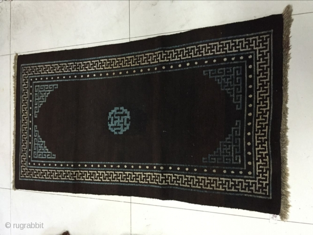 Around 1940, the Tibet carpet s size 142 cmx76cm, all wool, there is little repair, price concessions