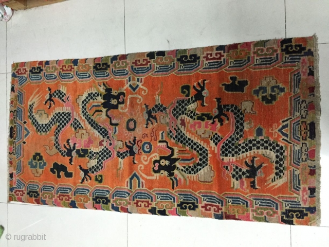 Around 1900, Tibetan carpets, s size 170 cmx85cm