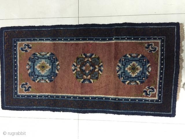 Around 1890, Tibetan carpets, s size 140 cmx70cm, all wool