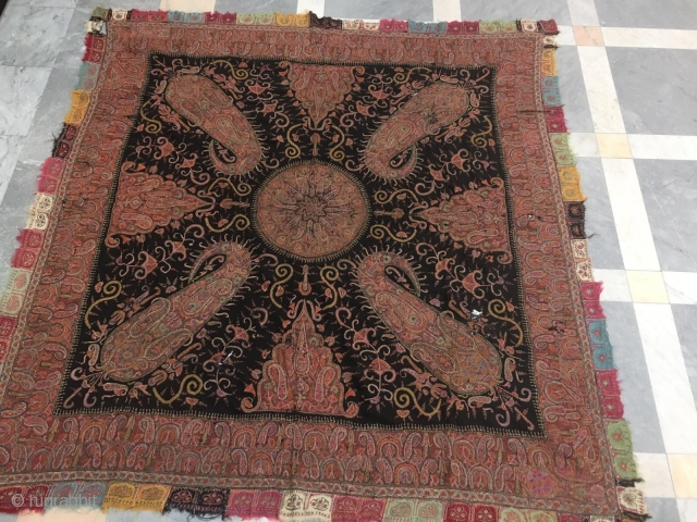 Antique Kashmir Shawl square