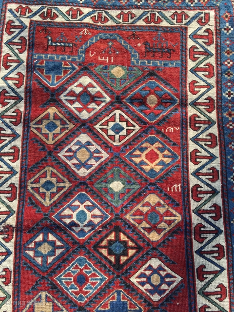 Small caucasian prayer rug