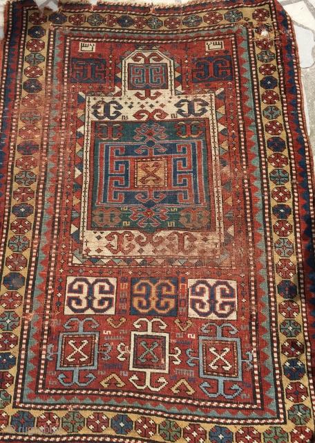 Caucasian prayer rug  Size 170/130 cm damage