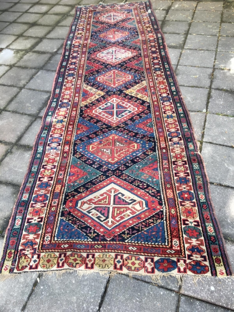 Gendje rug size 320/130 cm need repair nice color