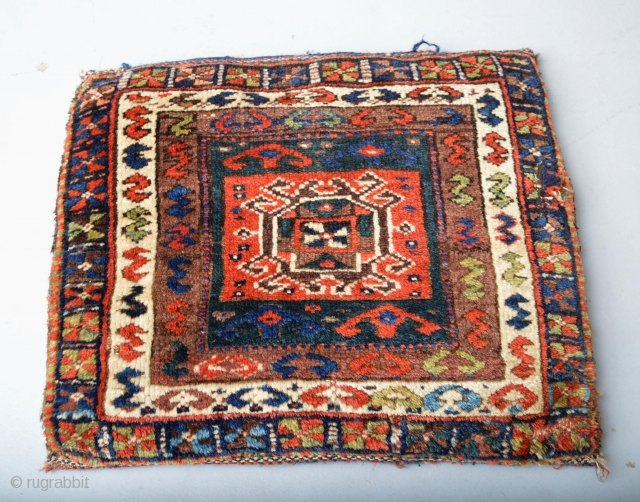 Beautiful Antique Kurdish Pillow All Natural colors Decorative ready for use