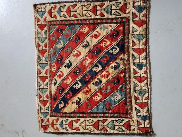 Beautiful antique Shahsavan bagface,all natural colors...