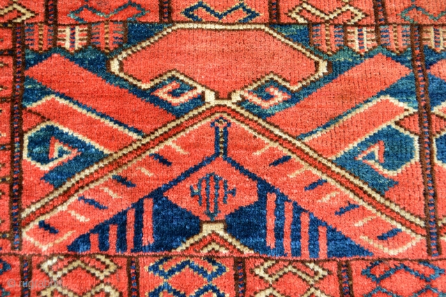 Extraordinary Turkoman Trapping.19th century. Amazing Natural Colors Verysoft supple handling Fullpile wool. A True Tribal art for wall display