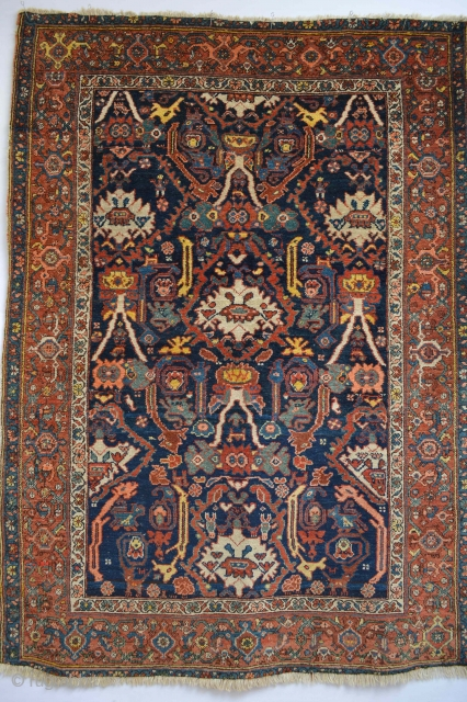 Beautiful Antique Kurdish Rug..circa 1900's Stunning all Natural colors and good qualty wool. Dragons Humans and animal paterns 