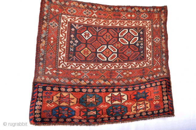 Stunning End 19th century Luri Storage bagfce with mixed technique