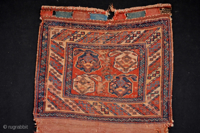 Beautiful  19th century Tribal Afshar Bagface as found very decorative and original without repairs..size 67 x 76 centimeters without back  withback 134 x 76 cm