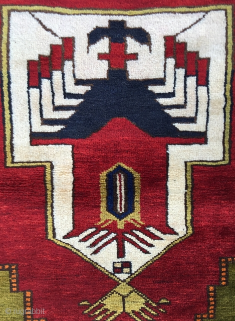 Unusual Anatolian yoruk prayer Rug Size:126x90Cm Circa 19th