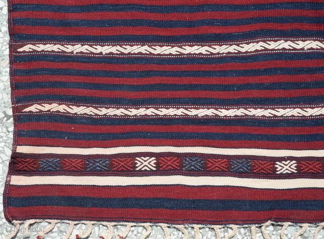 "West Anatolian Balıkesir 'Yüncü' Kilim Rug  Size:194 x 117 cm / 6'4""x3'10"""