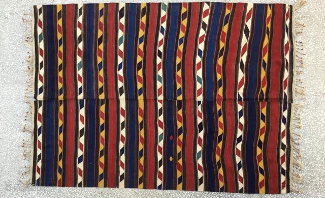 "Caucasian Kilim İn good condition 19th Century Size:232x169cm / 7'11""x5'9"""