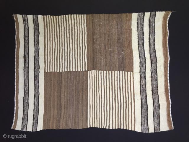 "Anatolian Goat Hair (Angora Wool)Siirt Blanket Size:189x140cm / 6'2""x4'7"""
