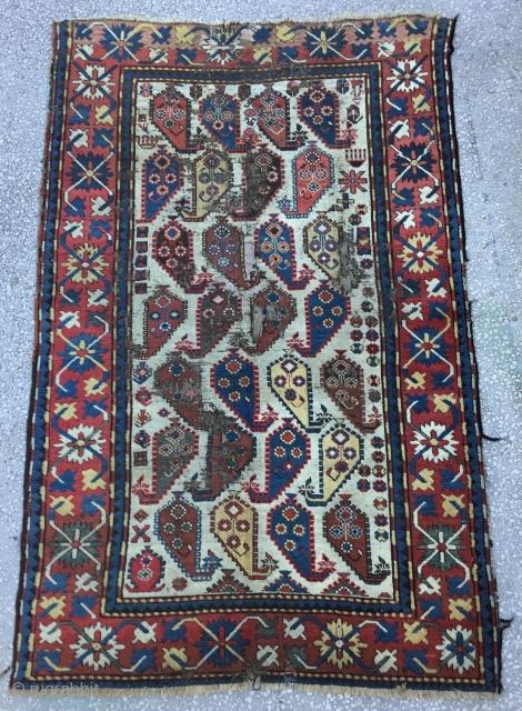 """Caucasian Rug 19th Century Size:130x203Cm/ 6'9""""x4'3"""""""