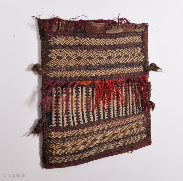 Baluch bag-kilim back- first half 20 century size:42 x 41 cm