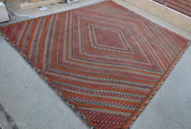 Antique Turkish Sivas (ŞARKIŞLA) Kilim Rug-excellent condition
