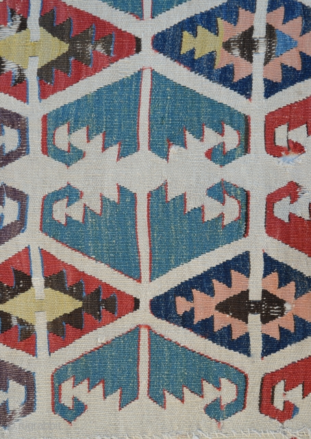 Central Anatolian (Konya) fragment kilim from Mid 19th century