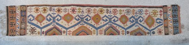 "Central Anatolian Kilim, Konya region, mid 19th century 2""4""x 13'3"" 72 x 404 cm"