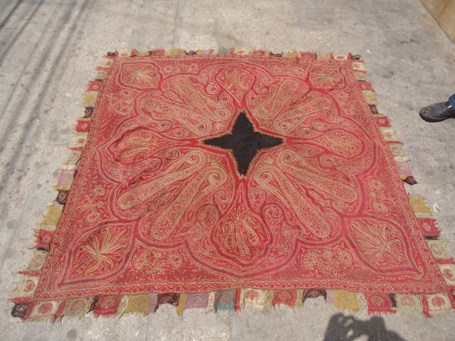 Finely woven Kashmiri Paisely Shawl,with good colors and condition.E.mail for more info.