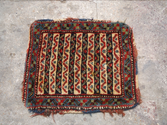 Qashqai Chanteh with beautiful colors stripe design,good condition and age,fine weave.E.mail for more info.