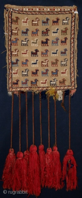 ANTIQUE QASHQAI CHANTEH, PEACOCKS, GOATS, LATE 19TH CENTURY 