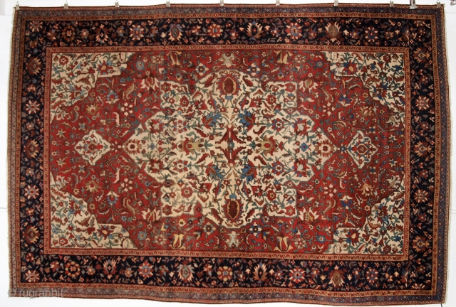 SOLD. Persian Faraghan Sarouk, 19th century; Size: 312 x 209cm