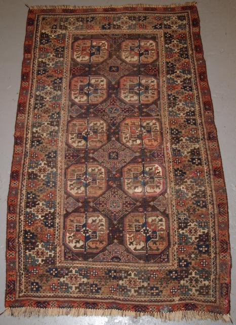 Mahdad Khani Baluch rug, size: 170 x 105cm. www.knightsantiques.co.uk  D-0118.