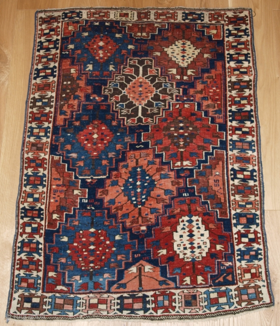 Antique Caucasian Kuba region rug with scarce design and very small size. www.knightsantiques.co.uk 
