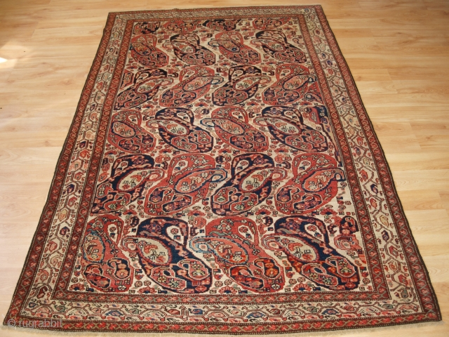 Antique Malayer rug with 'Mother and Child' boteh design, Size: 196 x 123cm. www.knightsantiques.co.uk