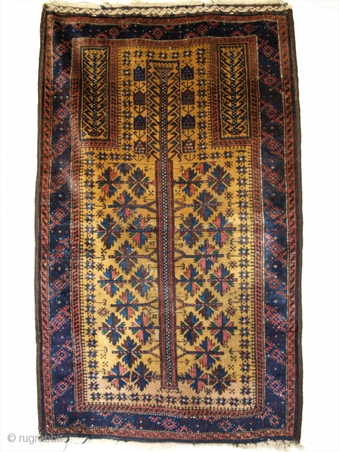 Baluch prayer rug, size: 130 x 80cm. www.knightsantiques.co.uk