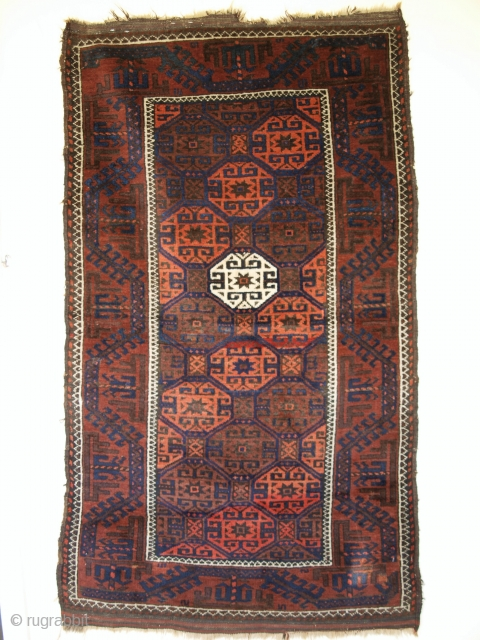 Small Baluch rug, Western Afghanistan. Size: 141 x 80cm. www.knightsantiques.co.uk