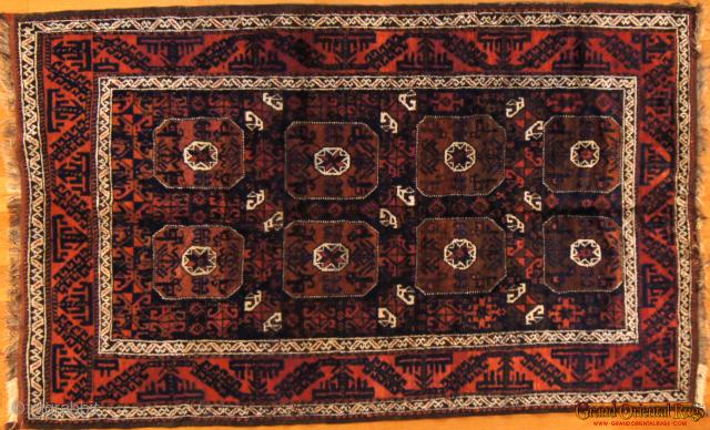 Baluch. 4.5 x 7 ft (130 x 210 cm), excellent condition.