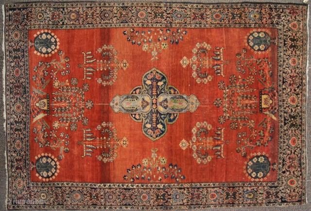 Farahan sarouk, c. 1900. 5 x 7 ft (150 x 210 cm), good condition.