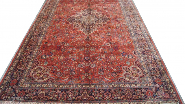 Persian Kazvin, c 1910. 10 x 18 ft (300 x 540 cm), mint condition.