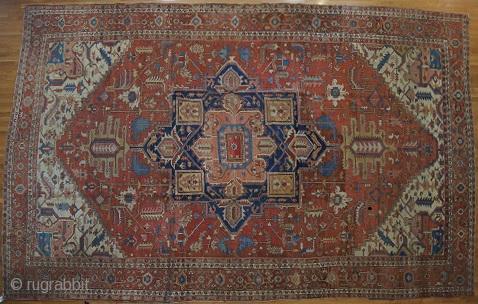 Persian Serapi, c. 1890. 11 x 17 ft (330 x 510 cm), some repair.