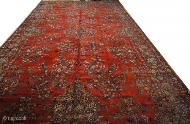 Persian Kazvin, c. 1920. 10½ x 22 ft (315 x 660 cm), mint condition.