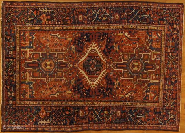 Persian Karadja, c. 1920. 5 x 6 ft (150 x 180 cm), excellent condition.