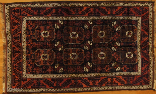 Persian Baluch, c. 1910. 5 x 7 ft (150 x 210 cm),  mint condition.
