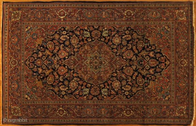 Persian Kashan, c. 1920. 4½ x 6½ ft (135 x 195 cm), excellent condition.