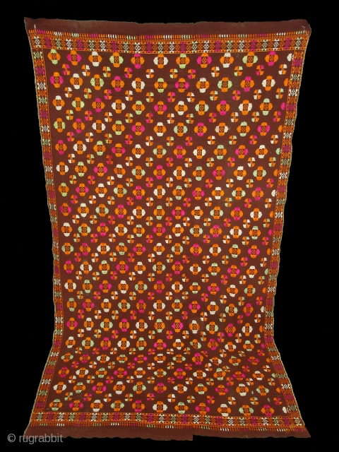 Phulkari From East(India)Punjab.India. A Moon Design Indian Phulkari(DSC01924 New).